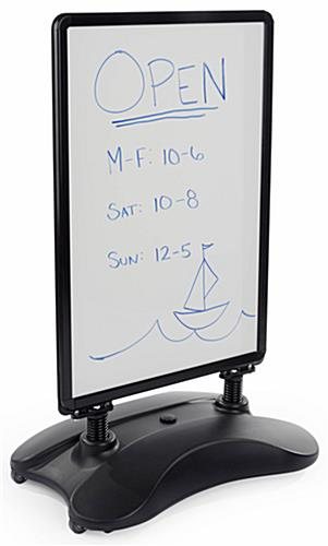 Wet Erase Sidewalk Sign with Easy to Update Board