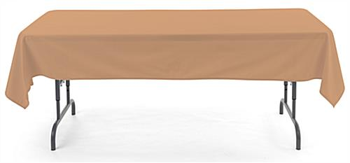 Beige rectangle tablecloths with machine washable design