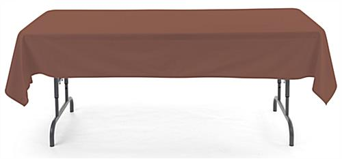 Brown rectangle tablecloths with flame retardant polyester design