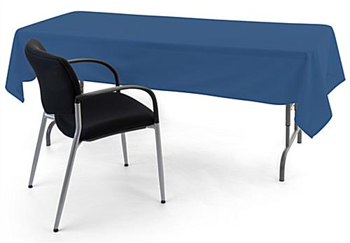 Dark blue rectangular tablecloths with flame retardant material