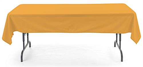 Gold rectangle tablecloths with 6 foot design