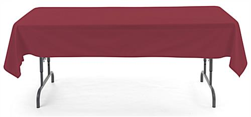 Burgundy rectangle tablecloths with polyester material