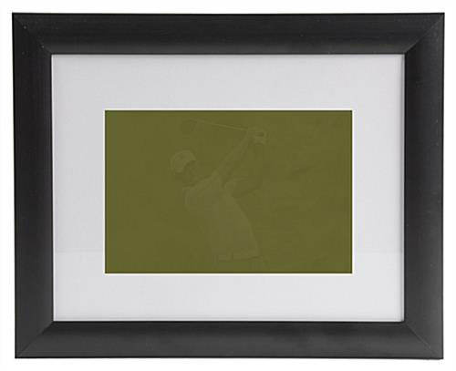 Matted Picture Frames W Black Plastic Profile