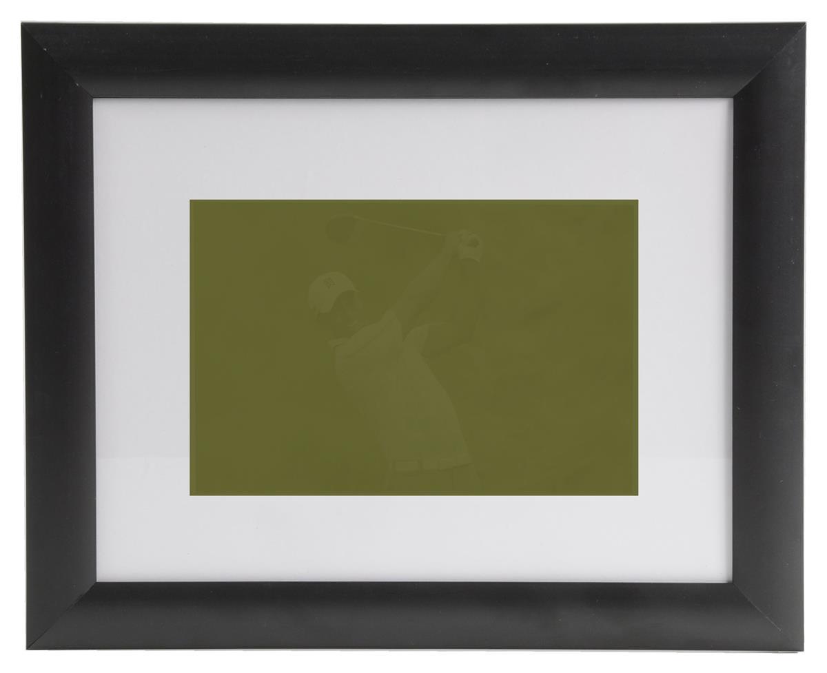 Matted Picture Frames W Black Plastic Profile
