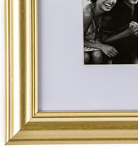 Gold Color Picture Frame with Ornate Detail