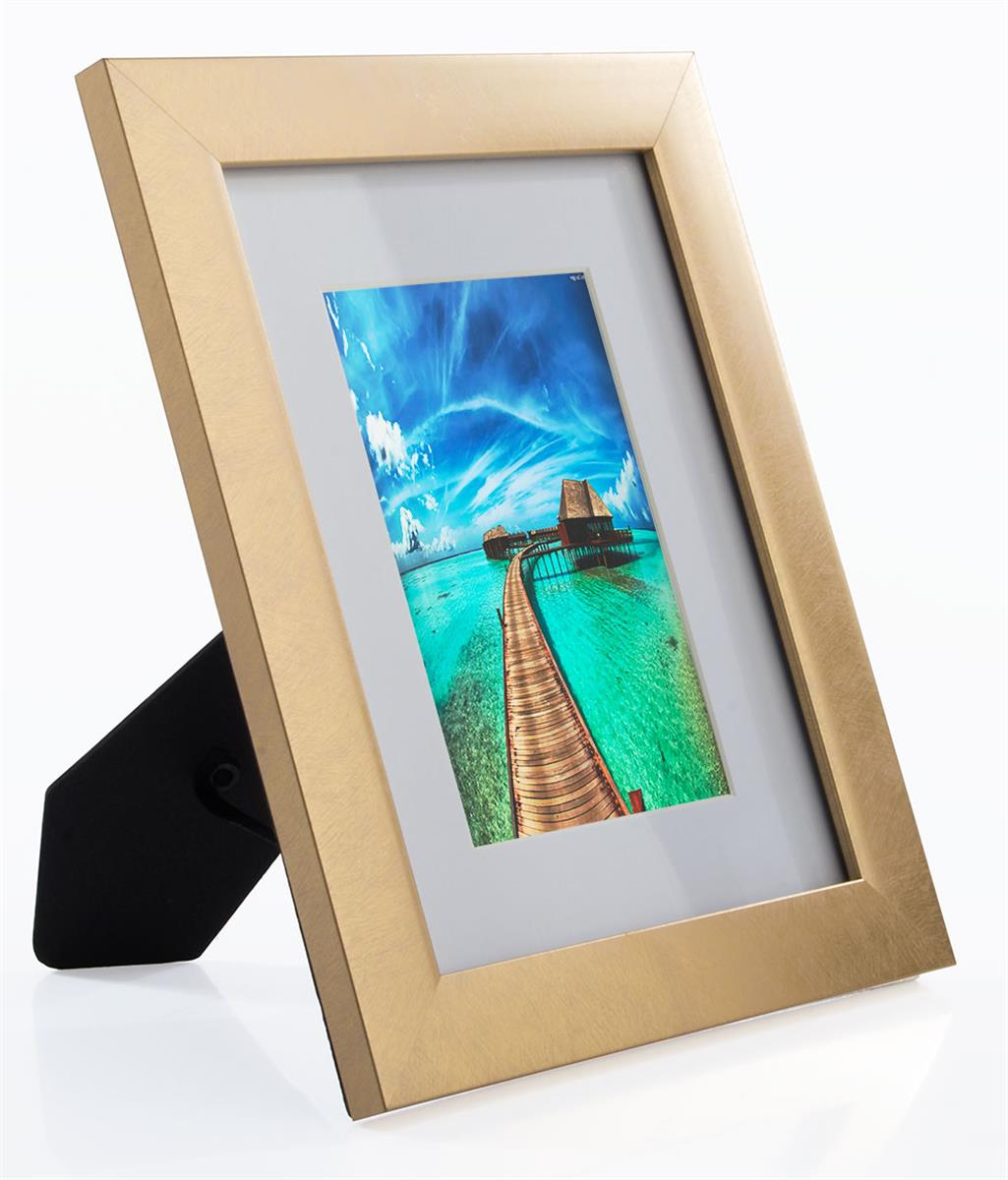 4 X 6 Distressed Gold Picture Frame Wall Mount Or Tabletop