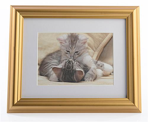 Decorative Gold Photo Frame Wall Hanging W White