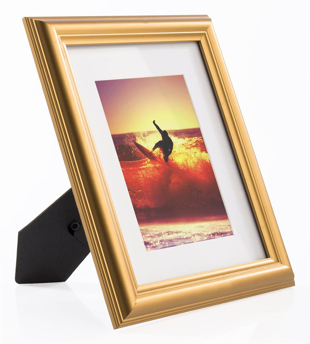 Decorative gold photo frame wall hanging w white removable mat jeuxipadfo Gallery