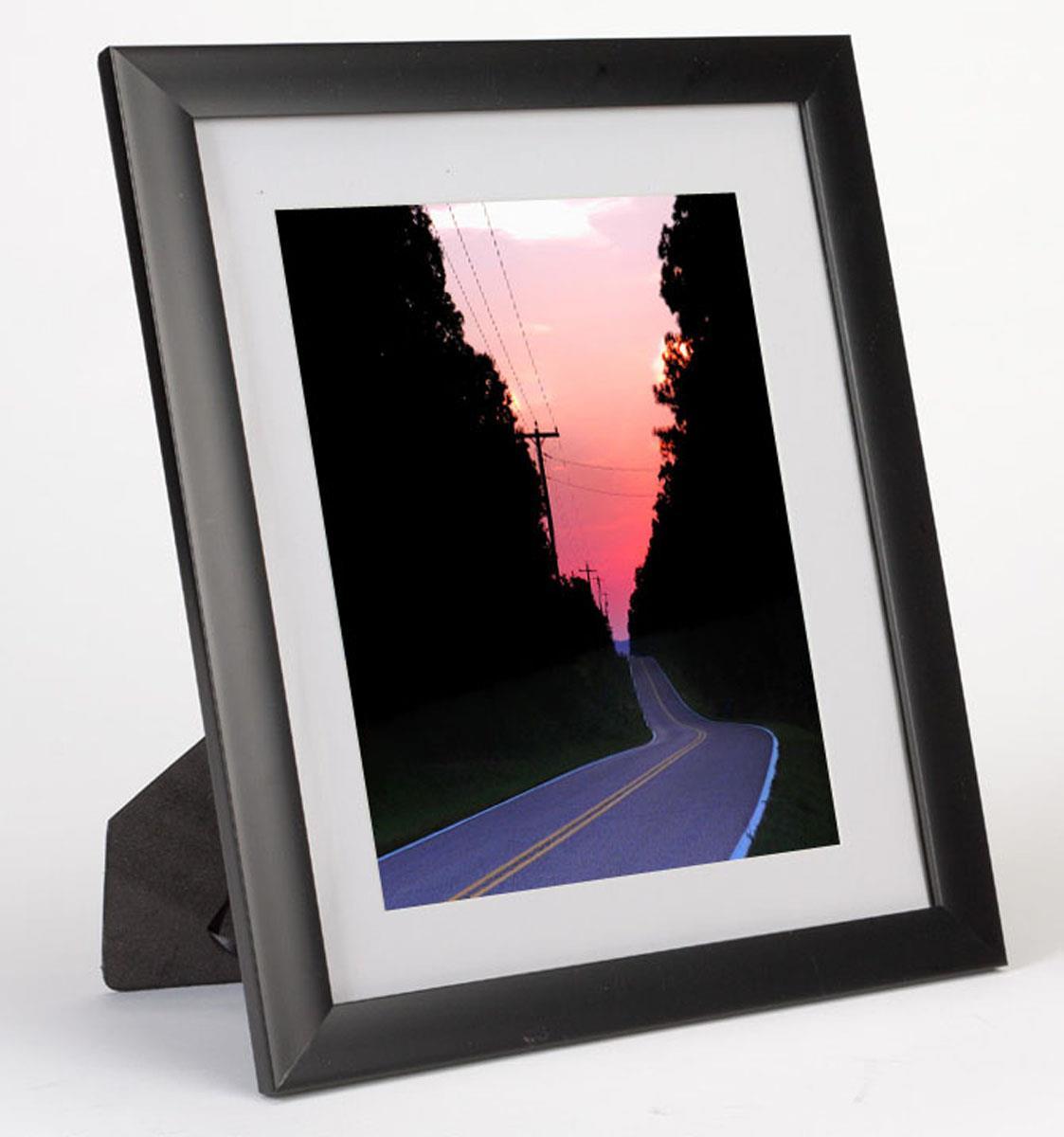 5 Quot X 7 Quot Mat Picture Frame Black Plastic