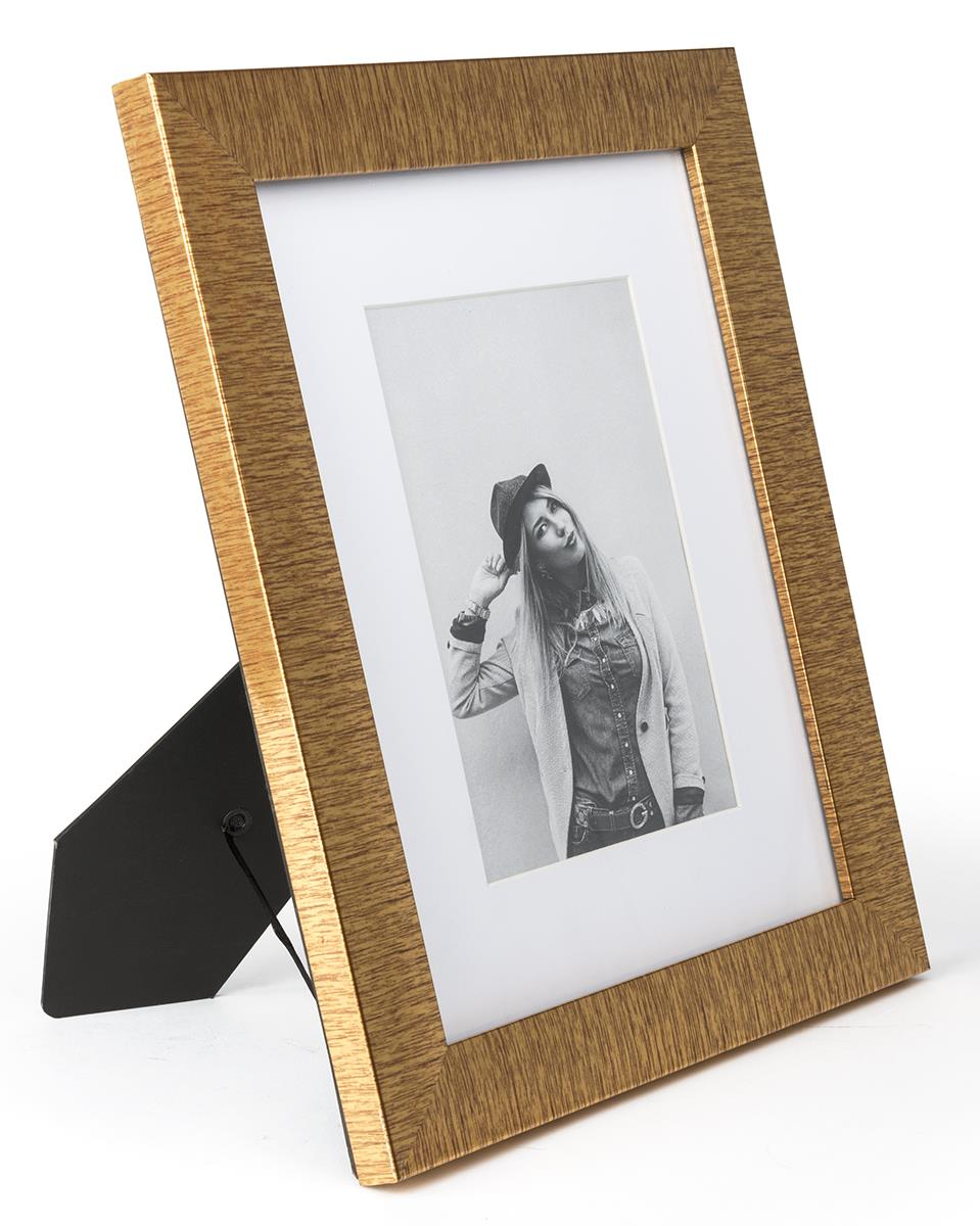5 X 7 Metallic Gold Photo Holder W Included Mat