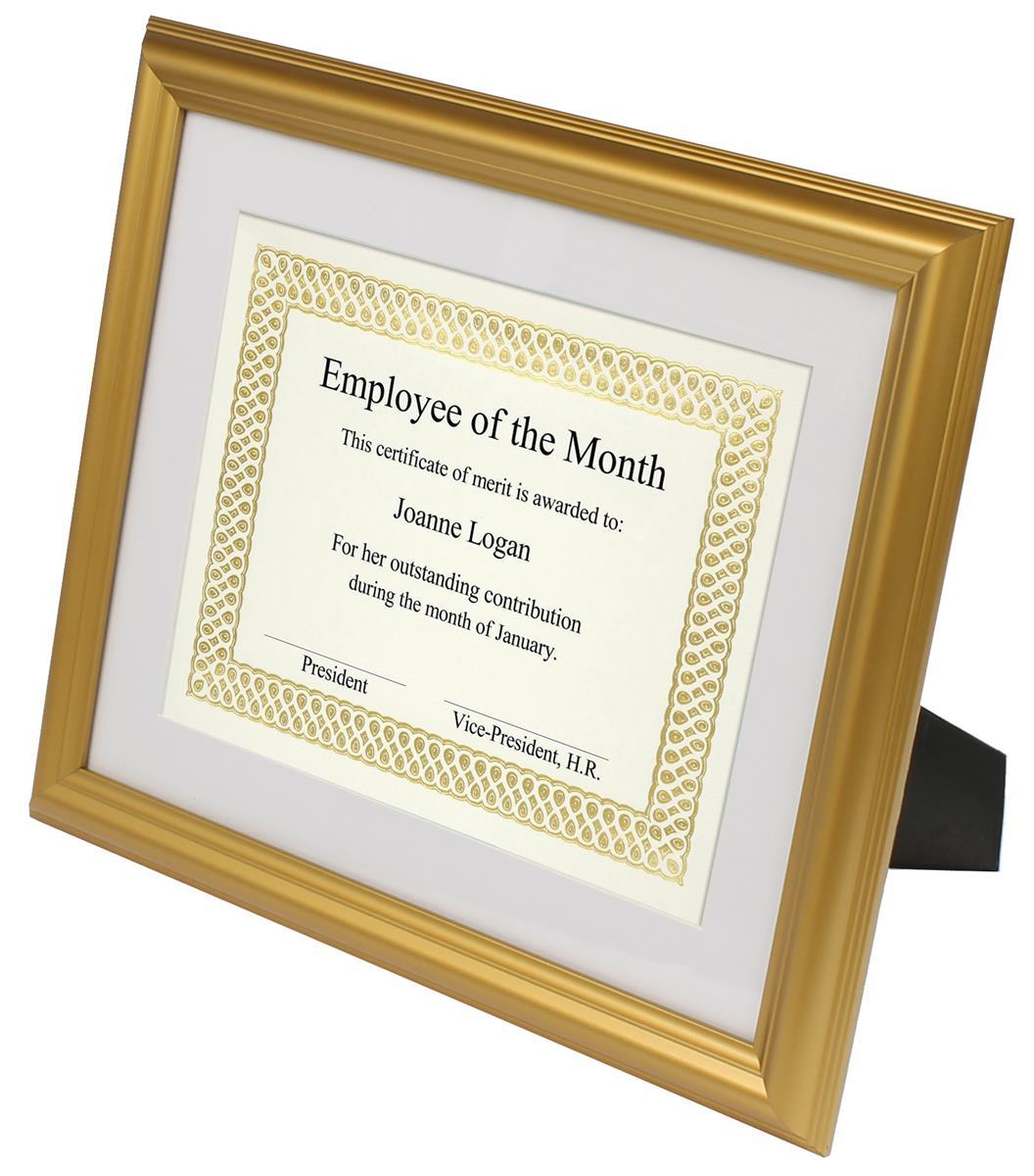 Diploma Frame Gold Profile Matting