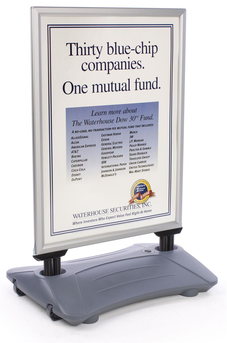 Sidewalk Signs Water Based Poster Frame With Wheels