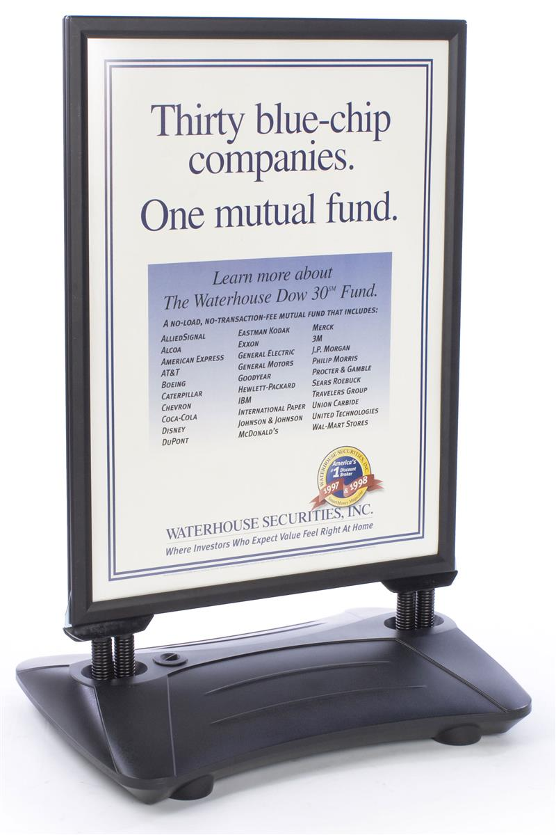 Sidewalk Sign Wind Resistant Double Sided Poster Display