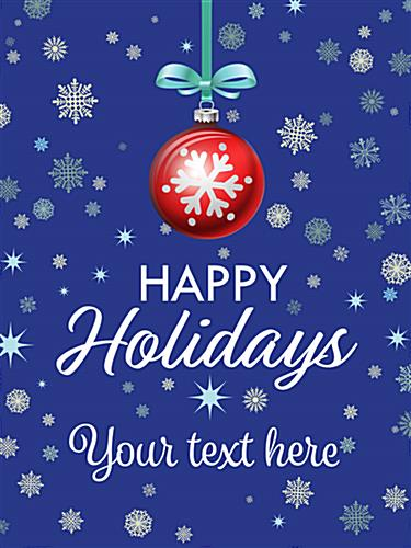 "18"" x 24"" ""Happy Holidays"" retail poster for window displays"