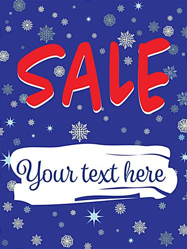 "Blue 18"" x 24"" ""Winter Sale"" Window Banner"
