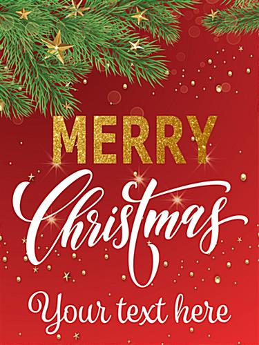 "18"" x 24"" ""Merry Christmas"" retail poster with personalized message area"