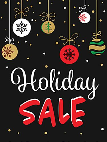 "Store window ""Holiday Sale"" poster with digital printing"