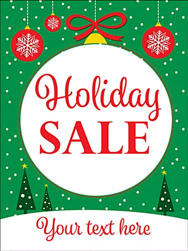"Green 18"" x 24"" ""Holiday Sale"" window poster"