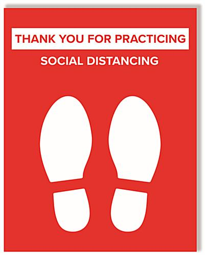 Keep social distance sign with 22 inch by 28 inch dimensions