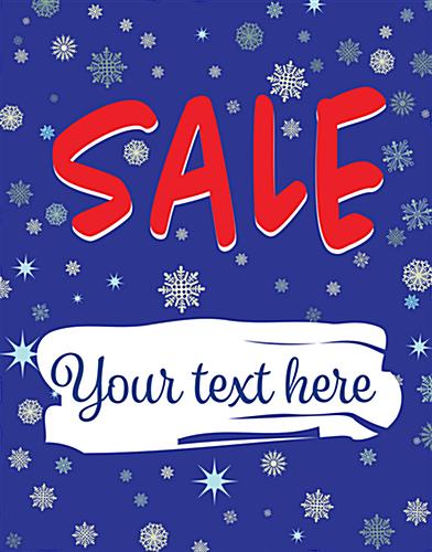 "22"" x 28"" winter Sale window sign with personalized text area"