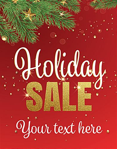 "22"" x 28"" ""Holiday Sale"" trendy window sign with stock artwork"
