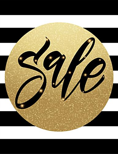 22 x 28 holiday retail sale posters with gold and black theme