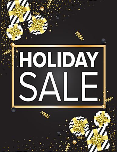 22 x 28 holiday sale poster with festive theme