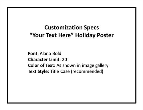 Customized promotional holiday window sign with personal message