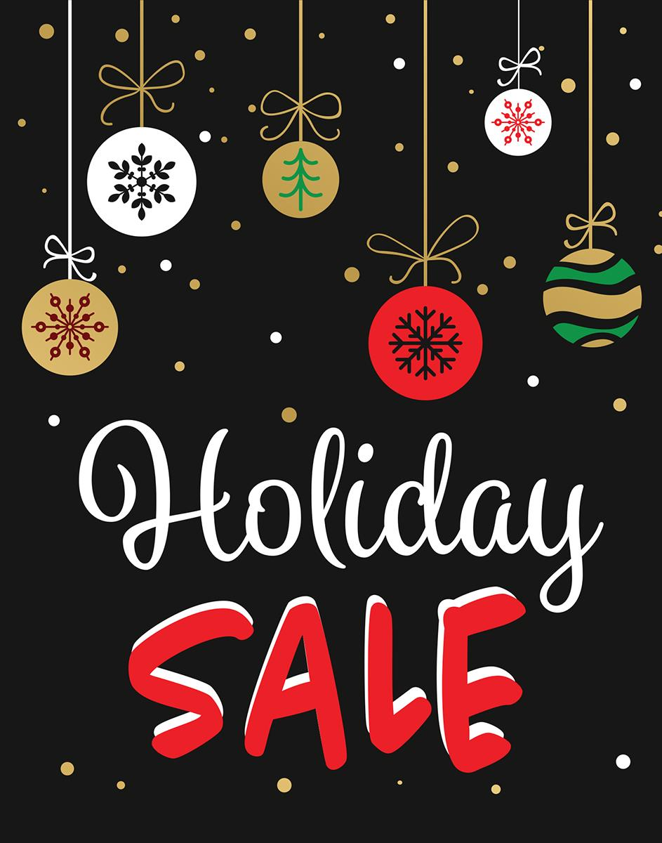"""Store Window """"Holiday Sale"""" Sign 
