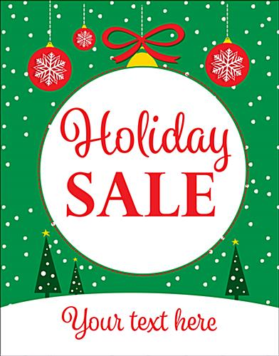 "Customizable 22"" x 28"" trendy ""Holiday Sale"" window poster"
