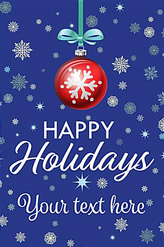 "24"" x 36"" ""Happy Holidays"" poster with custom text"