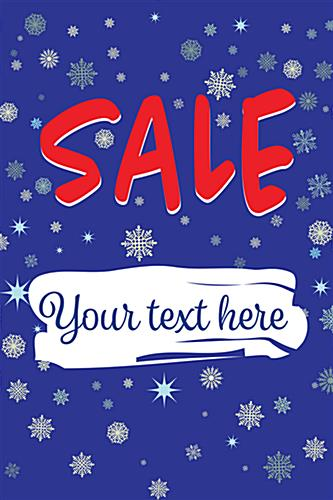 "24"" x 36"" ""Winter Sale"" window sign with customization"