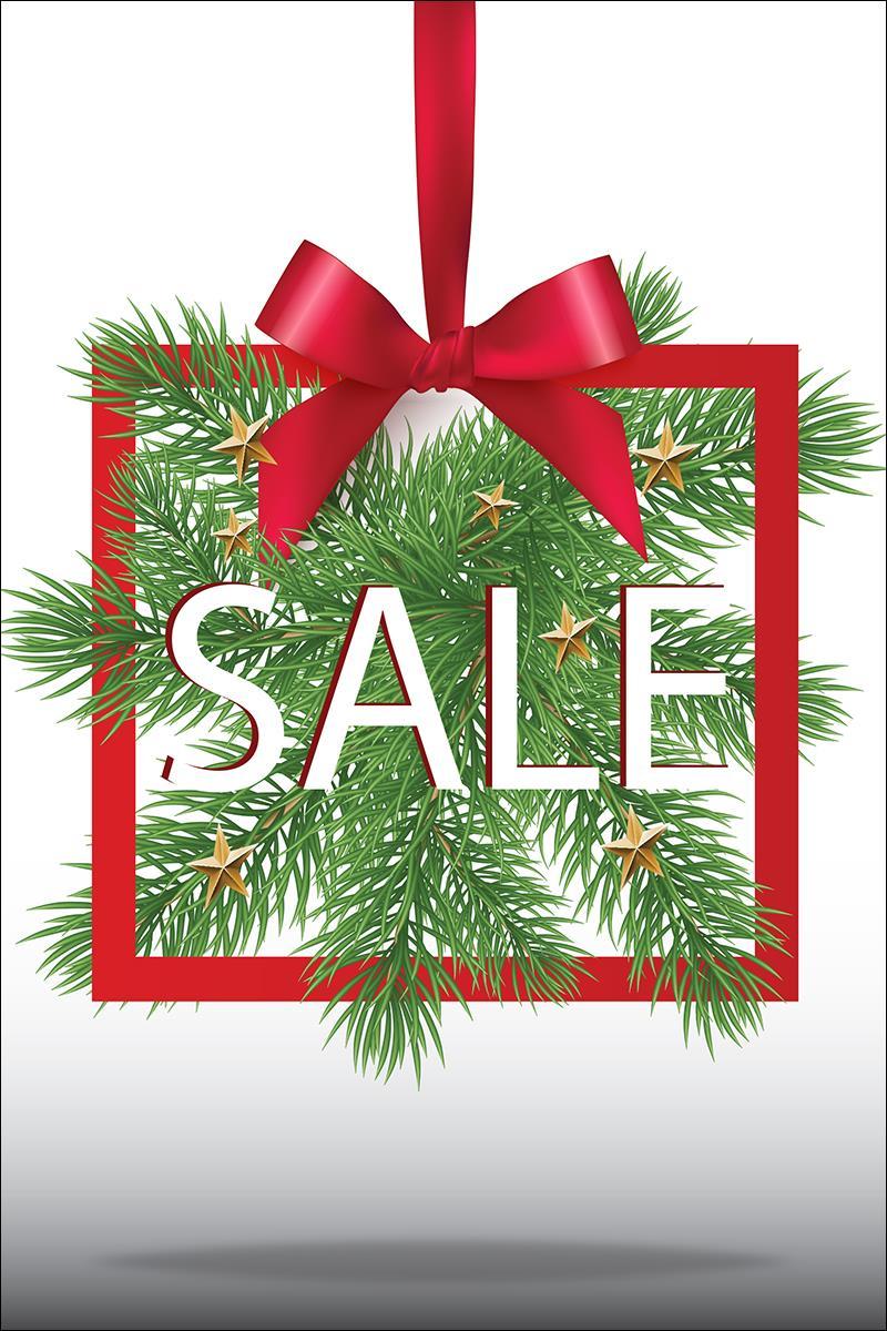 Christmas Season.24 X 36 Pre Printed Sale Poster Green