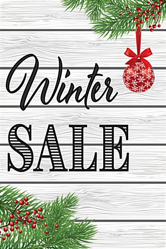 "Retail ""Winter Sale"" poster for holiday advertising"