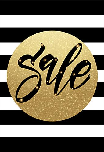 24 x 36 striped holiday sale signs