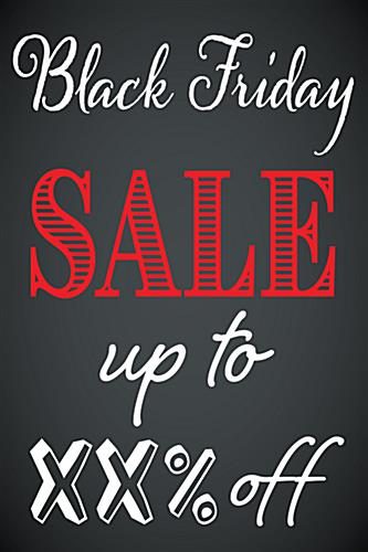 24 x 36 Black Friday sign with red and white text