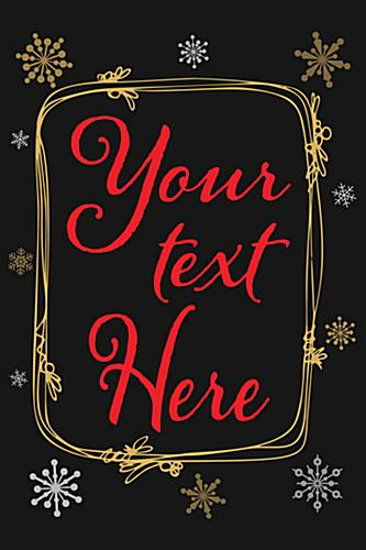 Custom text chalkboard holiday poster with editable message