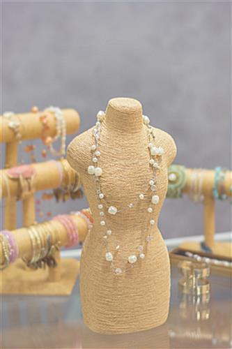 Hemp Necklace Displays Countertop Mannequin Body For Jewelry