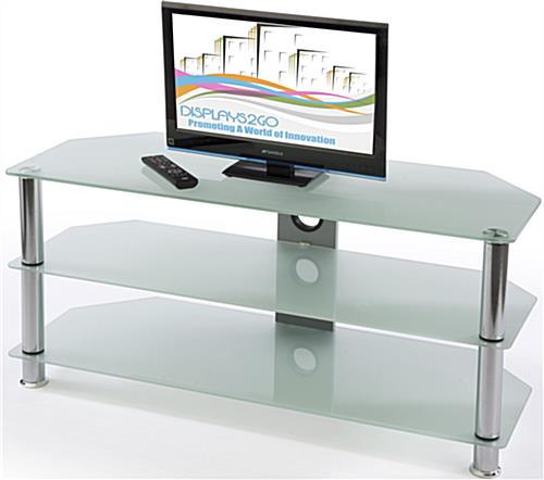 glass tv console home entertainment system