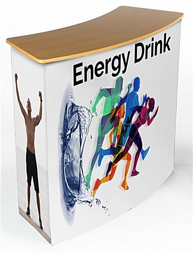 Wrap around graphic for CNTPUVL promotional pop-up counters with personalized front and side panels