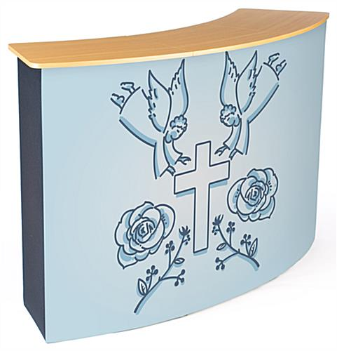 Front replacement graphic for CNTPUVL3X2 pop-up counter with custom art