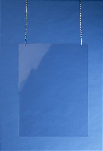 "Clear Plastic Poster Sleeves Fit 18"" x 24"" Signs"
