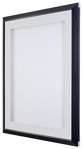 18 x 24 Poster Frame for Wall Mount, Swing Door, with 2 Mats (Black ...