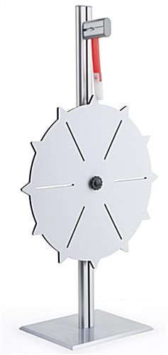 Prize Wheel with 6 - 12 Slots, Write-On Surface, Countertop - White