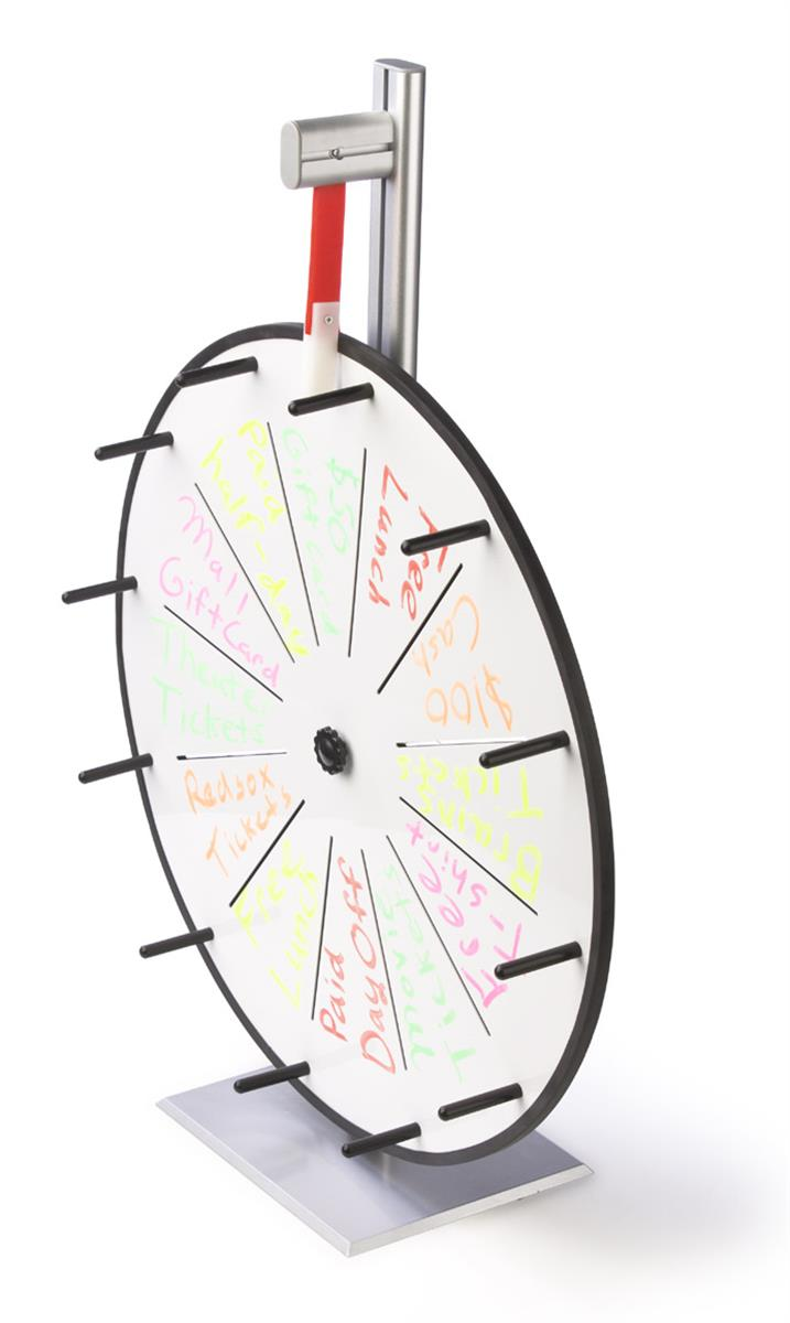 Write-on Prize Wheel with 12 Slots, Countertop - White