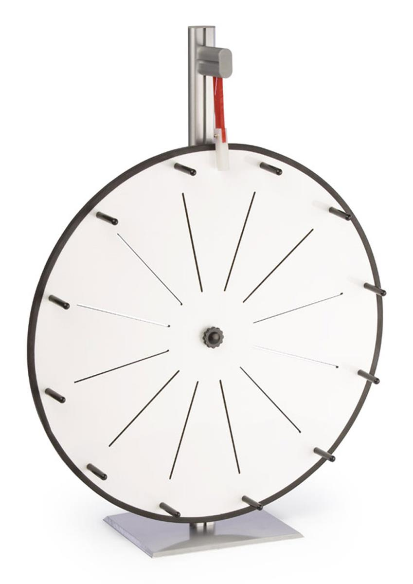 Displays2go Write-on Prize Wheel with 12 Slots, Counterto...