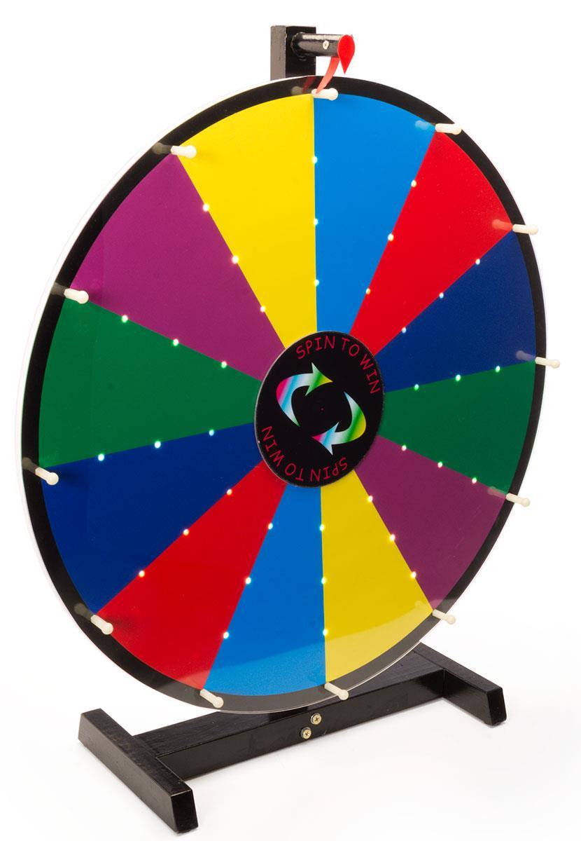 Light Up Prize Wheel Write On Board With Custom Led Lighting