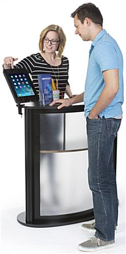 Kidney Shaped Counter with iPad Stand, Floorstanding