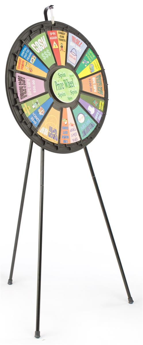 Adjustable Raffle Wheel Floorstanding Trade Show Event Game