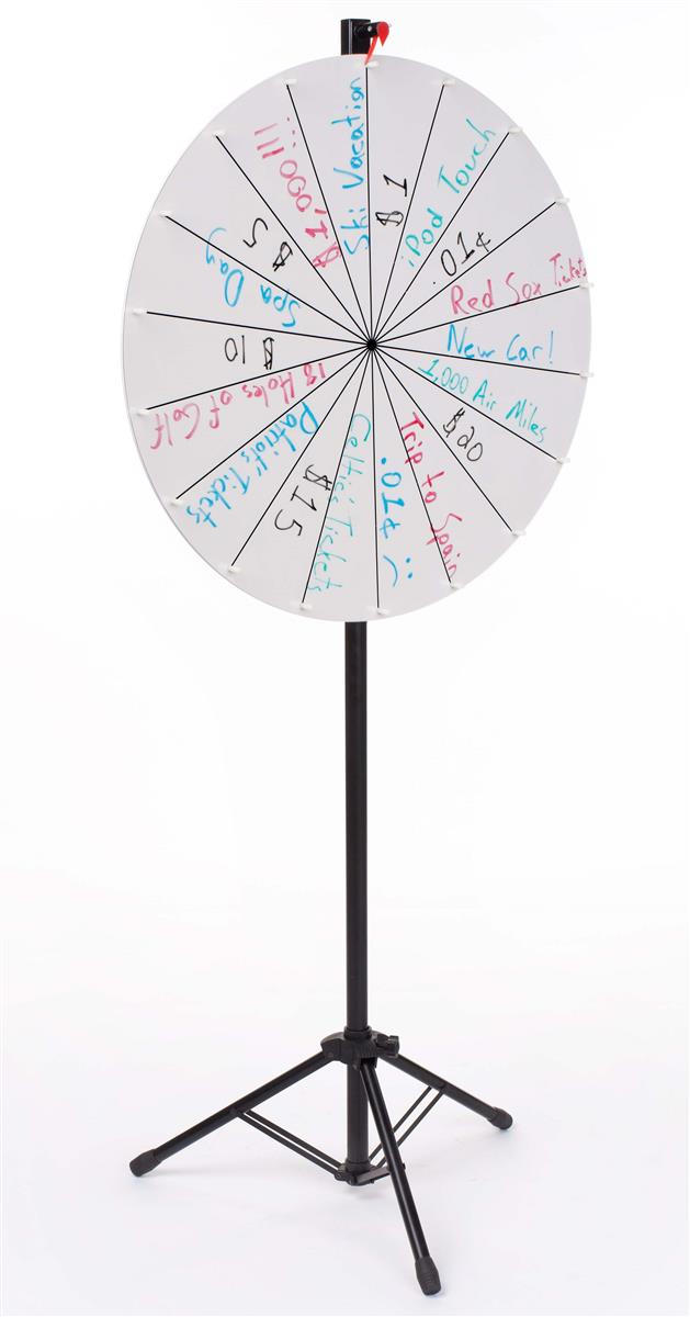 Displays2go Adjustable Prize Wheel with 18 Slots, Write-O...